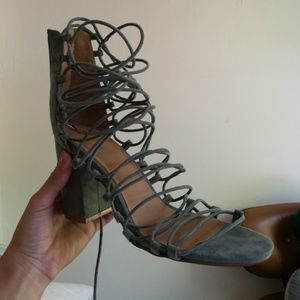 Urban outfitters Jessica suede strappy heels